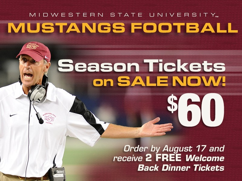 2015 Midwestern State Football Season Tickets