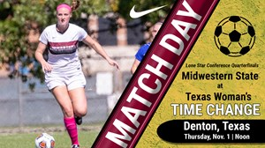 MATCH DAY: Midwestern State vs. Texas Woman's (Nov. 1, 2018)
